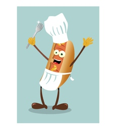 mister hot dog vector image