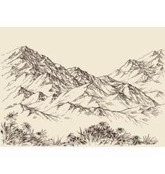 Mountain peaks altitude landscape vector