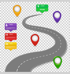 Navigation infographics design Car road vector image