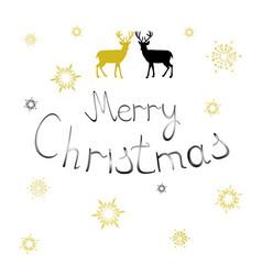 Open christmas with deers vector