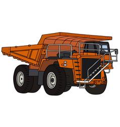 Orange mining dump truck vector
