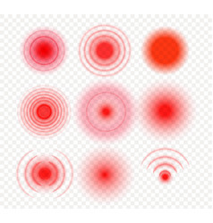 Radial pain circles target red gradient medical vector