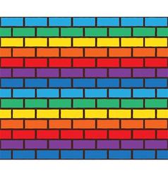 Rainbow bricks pattern vector