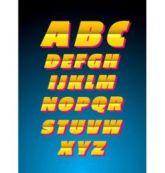 Retro style alphabet font vector