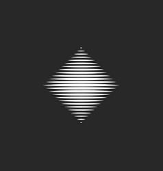 rhombus logo hypnotic destroyed geometric shape vector image