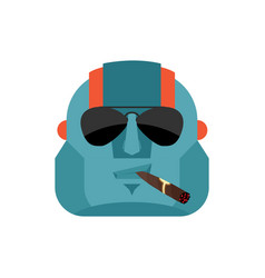robot cool serious avatar of emotions cyborg vector image