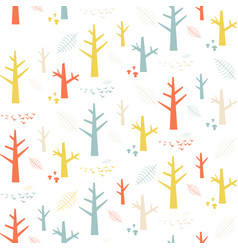 Seamless pattern with colorful nature vector