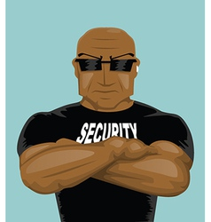 Security guard vector