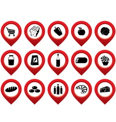 Set of the pointer supermarket vector image