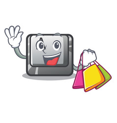 shopping button a in cartoon shape vector image