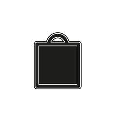 shopping icon fashion bag isolated - mall store vector image