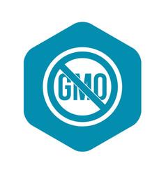 Stop gmo icon simple style vector