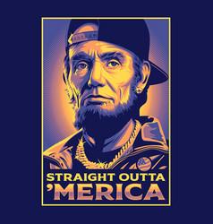 Straight outta america vector