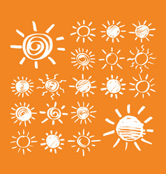 sun hand drawn marker vector image