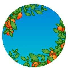 Tangerine card garden vector