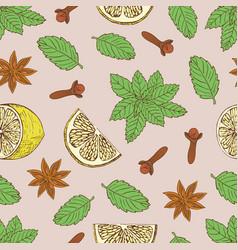 Tea pattern-06 vector