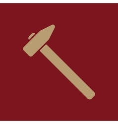 The hammer icon Hammer symbol Flat vector