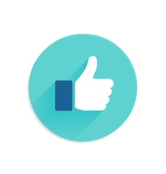 Thumbs up icon flat style vector image