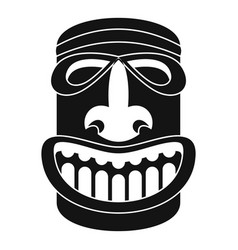 Tiki idol smile icon simple style vector