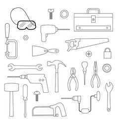 Tools digital stamps vector