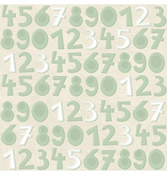 Turquoise number pattern vector image
