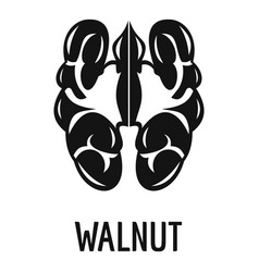 Walnut icon simple style vector