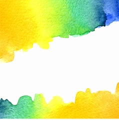 Watercolor orange yellow blue green background vector