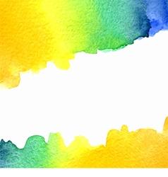 watercolor orange yellow blue green background vector image