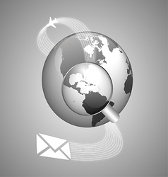 world concept global shipping vector image