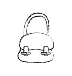 School hang bag accessory fashion vector