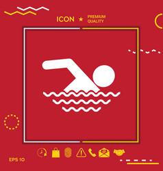 swim symbol icon vector image