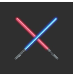 Two light swords vector image