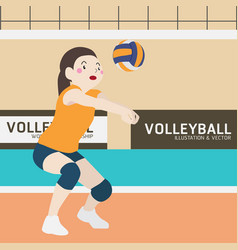 volleyball athletic sport cartoon vector image