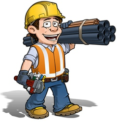 Construction Worker Plumber vector image vector image