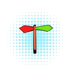 Direction signs icon comics style vector image