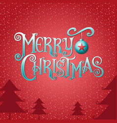 merry christmasamp happy new year type vector image vector image