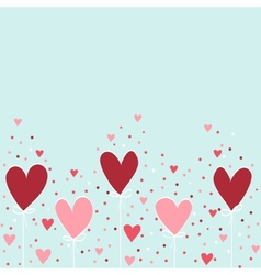 Valentine hand drawing background vector image vector image