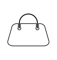 woman bag black color icon vector image vector image