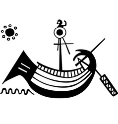 Ancient Greek boat vector image