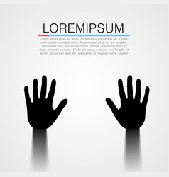 black pair of hands silhouette vector image
