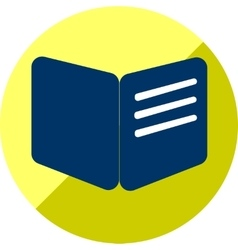 Book or education icon of set flat vector
