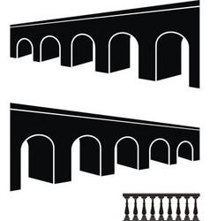 bridge black silhouettes vector image