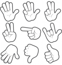 cartoon hands vector image vector image