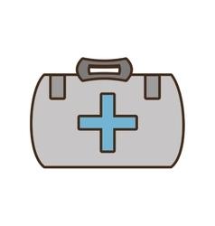 cartoon kit first aid cross emergency medical vector image vector image