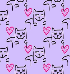 Cat Patterned Background vector image vector image