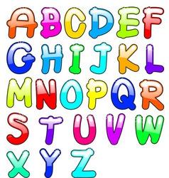 childish alphabet vector image