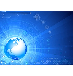 Futuristic background with globe vector
