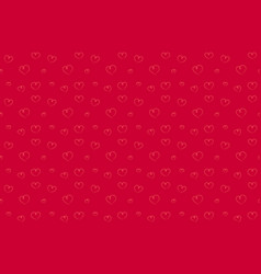 hearts seamless pattern hand drawn red background vector image vector image