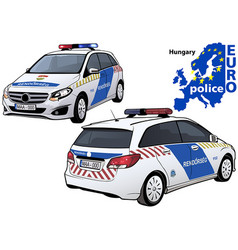 Hungary police car vector