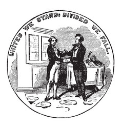 the official seal of the us state of kentucky in vector image vector image